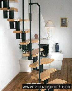 家庭室内装修设计图片之楼梯装修图片:简约式楼梯走廊装修