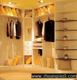 家庭室内装修设计图片之衣帽间装修图片:半开放式衣帽间,巧