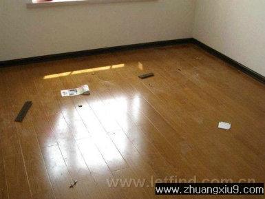 木地板现场安装过程实例