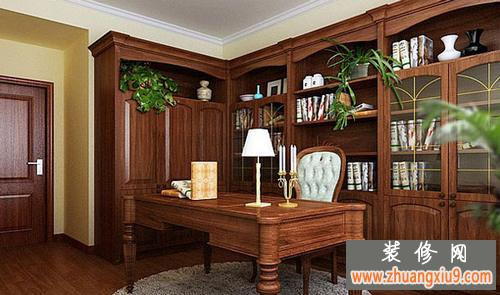 中式书房装修效果图大全2013图片幽雅宁静