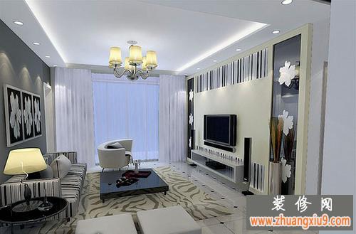 現代風格電視背景墻裝修效果圖營造家居客廳最炫目的