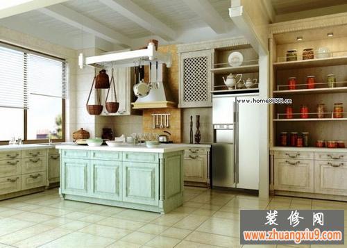 欧式大厨房装修现代时尚图片欣赏