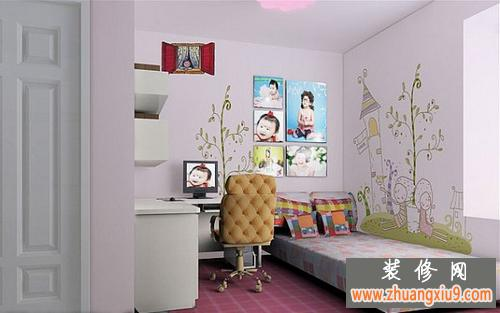 新设计创意彩绘儿童房家居装修效果图