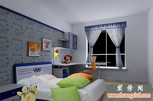 可爱女生儿童房间完工实景图片