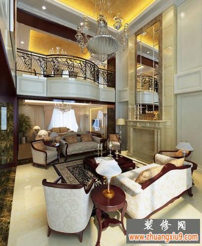 欧式风格装修效果图 两层大厅吊顶设计图片2