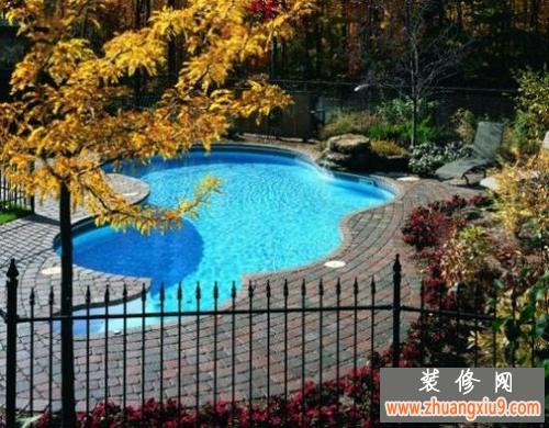 农村别墅游泳池图片分享;