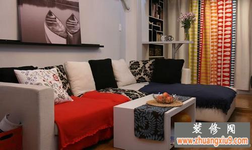 客厅电视墙效果图欣赏 两室一厅客厅装修设计图欣赏2   两室