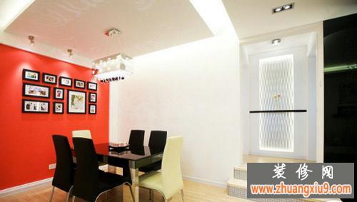 三房两厅装修效果图大全2013图片演绎黑白红经典