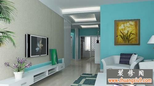 客厅电视背景墙装修效果图简约式风格 清爽干净清洁靓丽