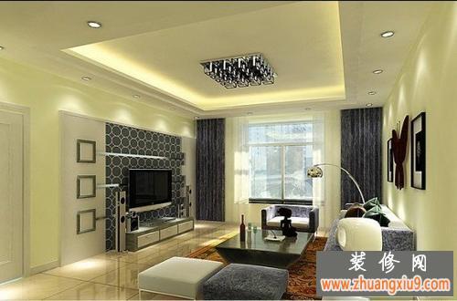 现代简约客厅电视背景墙装修效果图引领2013新风格