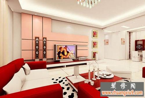 现代简约而不简单的客厅电视墙装修效果图适合80后的您