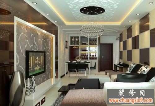 客厅电视背景墙效果图艺术的装修设计动感十足创意优美