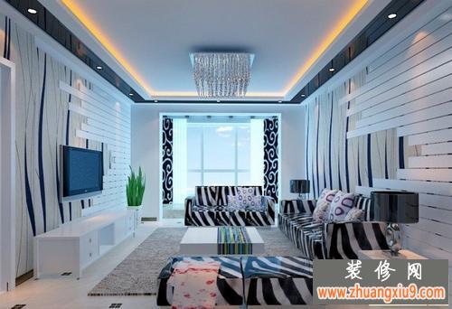 电视墙装修效果图大全2013图片让你装出完美个性客厅