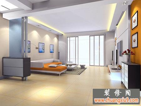 经典的客厅装修,现代式简约电视背景墙