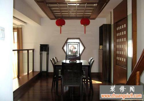 中式风格电视背景墙设计体现古典文化的浓厚底蕴