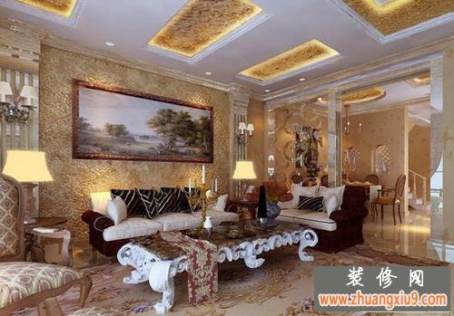 欧式风格客厅电视背景墙装修效果图是装修客厅的主流