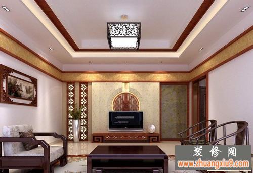古色古香中式电视背景墙装修效果图大全2013图片传