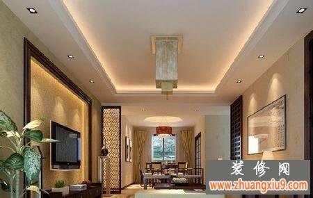 璀璨夺目的欧式电视背景墙装修效果图金色灿烂彰显奢华