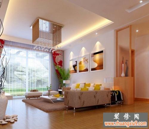 现代客厅沙发背景墙装修效果图大全最新的图片-倾注