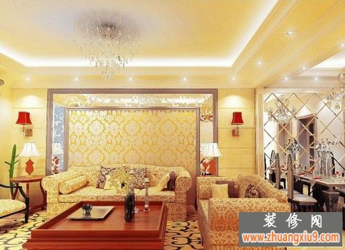 效果图—最新的客厅沙发背景墙图片—家庭客厅沙发图
