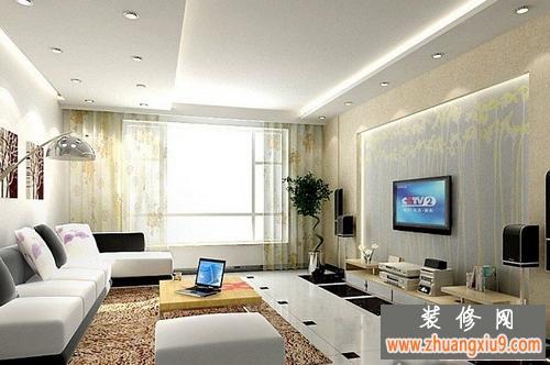 图—小户型客厅装修效果图—小户型客厅电视背景墙