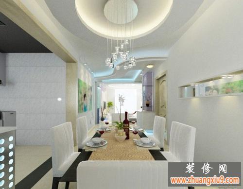 餐厅吊顶效果图改造现代简约式家居装修风格