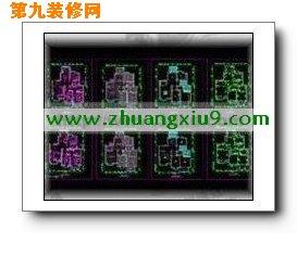 家装cad,家居装修平面图 由[第九装修网|http://www.zhuangxiu