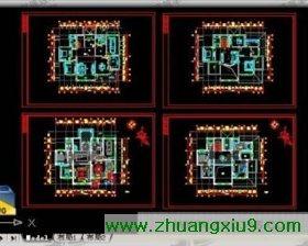 欧式别墅平面图装修图平面图cad施工图04 界面 高清图片