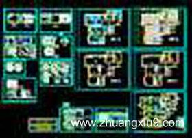 中式风格室内装修设计cad施工图纸下载 简介:收 藏:,cad图纸