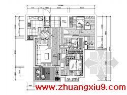 设计图(含效果)包括:原始结构图、墙体变更图、平面布置图、顶