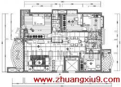 某住宅室内装修施工图 简介:   收 藏:   ,房子装修图,家庭装修