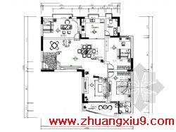 三室二厅装修图 共26张 主要内容包括:原始平面图、平面布置