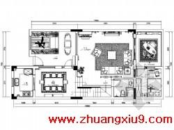 连排别墅室内装修图(56张)包括:封面、图纸目录、施工设计说明