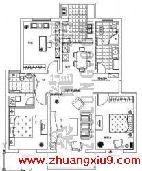 三室两厅户型图内容介绍三室两厅户型图包括平面布置图顶