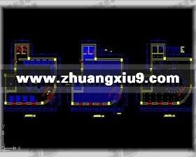 咖啡馆v商城商城CAD平面图梯方案自动护cad下载图图片