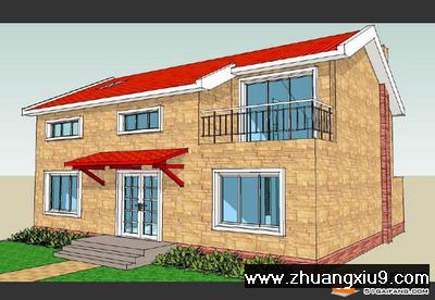 二层农村 自建房设计图 16 x12 下载 农村房屋设