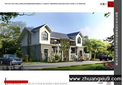 本套图纸为新农村二层房屋设计方案,建筑占地十16.2米x12