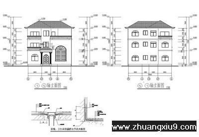 房屋设计图 非常精致农村房屋施工图带效果图11x11