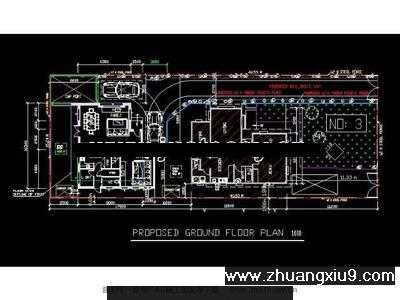 某欧式别墅建筑规划设计图cad图纸