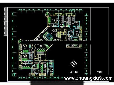 地产公司办公空间施工图cad图纸