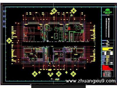 酒店豪华套房平面图CAD图纸 界面预览