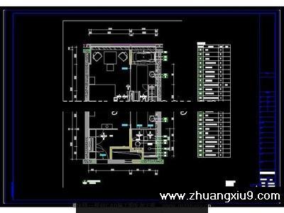 上海璞丽酒店客房施工图cad图纸 下载_宾馆酒店cad_第