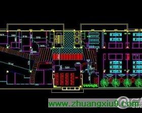 (三天 中式餐厅cad设计及效果图 - 餐厅装修 - 商业装 电视